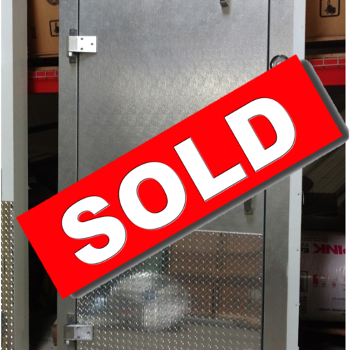 Aluminum Door and Frame with Diamond Kick Plate Commercial Cooling Par Engineering Inc. City of Industry