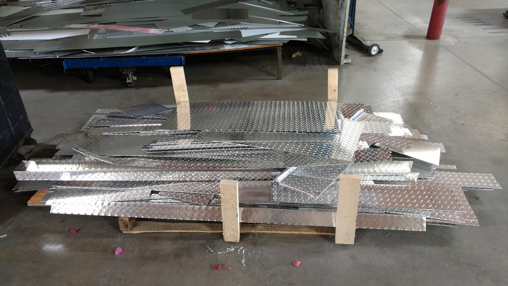 Aluminum Diamond Plate Scrap Commercial Cooling