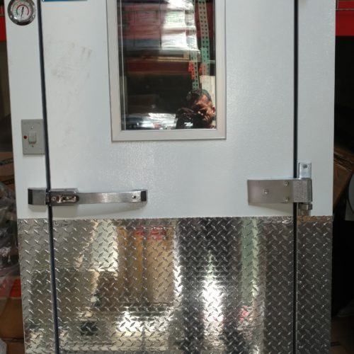 Walk-in Box Door Galavanized White Diamond Kickplate Commercial Cooling Par Engineering Inc. City of Industry