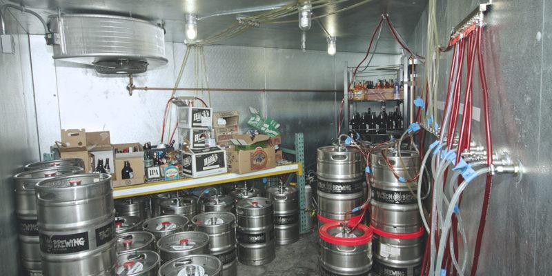 Brewery walk-in cooler